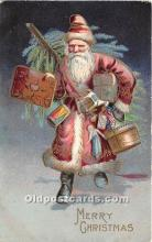 hol017055 - Santa Claus Postcard Old Vintage Christmas Post Card
