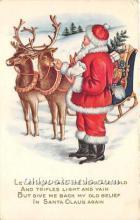 hol017056 - Santa Claus Postcard Old Vintage Christmas Post Card