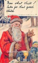 hol017058 - Santa Claus Postcard Old Vintage Christmas Post Card