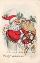 hol017059 - Santa Claus Postcard Old Vintage Christmas Post Card