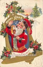 hol017063 - Santa Claus Postcard Old Vintage Christmas Post Card