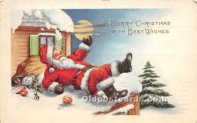 hol017065 - Santa Claus Postcard Old Vintage Christmas Post Card