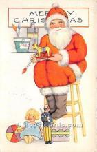 hol017066 - Santa Claus Postcard Old Vintage Christmas Post Card
