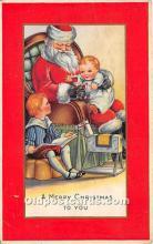 hol017067 - Santa Claus Postcard Old Vintage Christmas Post Card