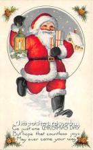 hol017070 - Santa Claus Postcard Old Vintage Christmas Post Card