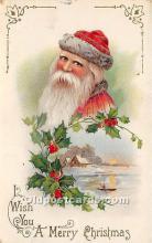 hol017071 - Santa Claus Postcard Old Vintage Christmas Post Card