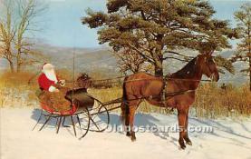 hol017075 - Santa Claus Postcard Old Vintage Christmas Post Card