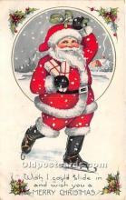 hol017077 - Santa Claus Postcard Old Vintage Christmas Post Card