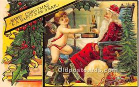 hol017082 - Santa Claus Postcard Old Vintage Christmas Post Card