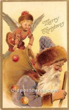 hol017086 - Santa Claus Postcard Old Vintage Christmas Post Card