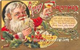 hol017087 - Santa Claus Postcard Old Vintage Christmas Post Card