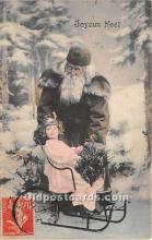 hol017088 - Santa Claus Postcard Old Vintage Christmas Post Card
