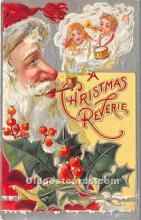 hol017089 - Santa Claus Postcard Old Vintage Christmas Post Card