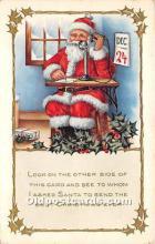 hol017090 - Santa Claus Postcard Old Vintage Christmas Post Card