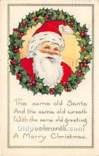 hol017091 - Santa Claus Postcard Old Vintage Christmas Post Card