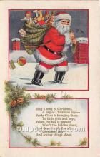 hol017097 - Santa Claus Postcard Old Vintage Christmas Post Card