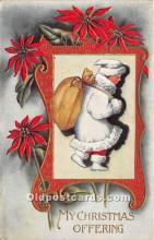 hol017098 - Santa Claus Postcard Old Vintage Christmas Post Card