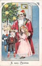 hol017099 - Santa Claus Postcard Old Vintage Christmas Post Card