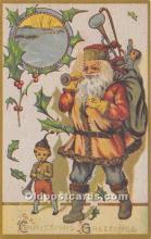 hol017100 - Santa Claus Postcard Old Vintage Christmas Post Card