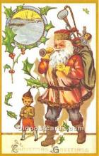 hol017102 - Santa Claus Postcard Old Vintage Christmas Post Card