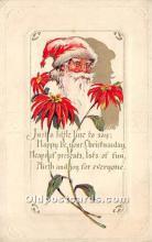 hol017103 - Santa Claus Postcard Old Vintage Christmas Post Card