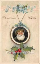 hol017105 - Santa Claus Postcard Old Vintage Christmas Post Card