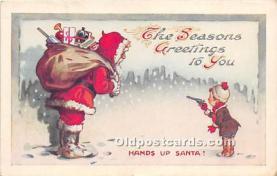 hol017107 - Santa Claus Postcard Old Vintage Christmas Post Card
