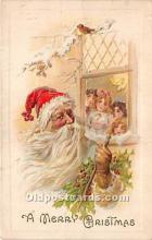 hol017108 - Santa Claus Postcard Old Vintage Christmas Post Card
