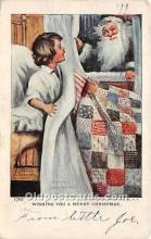 hol017109 - Santa Claus Postcard Old Vintage Christmas Post Card