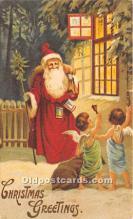 hol017110 - Santa Claus Postcard Old Vintage Christmas Post Card