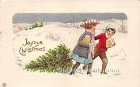 hol017111 - Santa Claus Postcard Old Vintage Christmas Post Card