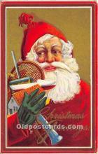 hol017116 - Santa Claus Postcard Old Vintage Christmas Post Card