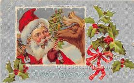 hol017117 - Santa Claus Postcard Old Vintage Christmas Post Card