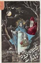 hol017119 - Santa Claus Postcard Old Vintage Christmas Post Card