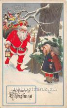 hol017121 - Santa Claus Postcard Old Vintage Christmas Post Card