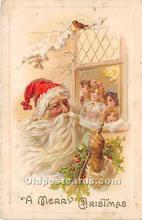 hol017123 - Santa Claus Postcard Old Vintage Christmas Post Card