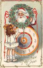 hol017124 - Santa Claus Postcard Old Vintage Christmas Post Card