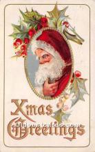 hol017125 - Santa Claus Postcard Old Vintage Christmas Post Card