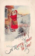 hol017126 - Santa Claus Postcard Old Vintage Christmas Post Card