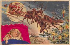 hol017127 - Santa Claus Postcard Old Vintage Christmas Post Card