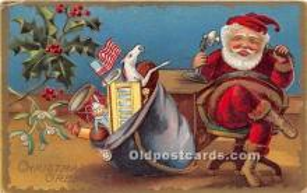 hol017128 - Santa Claus Postcard Old Vintage Christmas Post Card