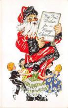 hol017130 - Santa Claus Postcard Old Vintage Christmas Post Card