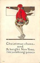 hol017131 - Santa Claus Postcard Old Vintage Christmas Post Card