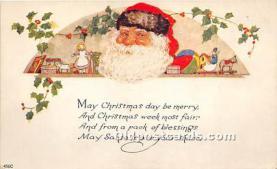 hol017132 - Santa Claus Postcard Old Vintage Christmas Post Card