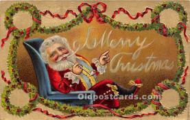hol017134 - Santa Claus Postcard Old Vintage Christmas Post Card