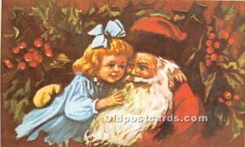 hol017139 - Santa Claus Postcard Old Vintage Christmas Post Card