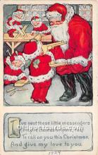 hol017140 - Santa Claus Postcard Old Vintage Christmas Post Card