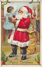 hol017143 - Santa Claus Postcard Old Vintage Christmas Post Card