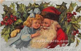 hol017145 - Santa Claus Postcard Old Vintage Christmas Post Card