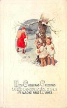 hol017146 - Santa Claus Postcard Old Vintage Christmas Post Card